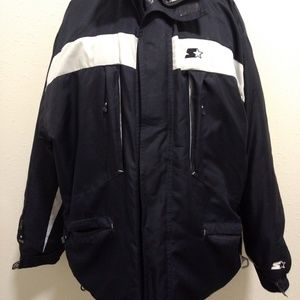 Starter Down Filled Winter Coat Jacket SZ L Blue